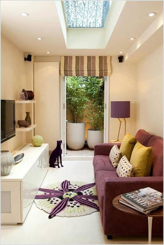 10 cách tuyệt vời trang trí cho phòng khách nhỏ - Ảnh 6.