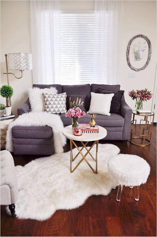 10 cách tuyệt vời trang trí cho phòng khách nhỏ - Ảnh 8.