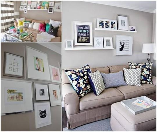 10 cách tuyệt vời trang trí cho phòng khách nhỏ - Ảnh 10.