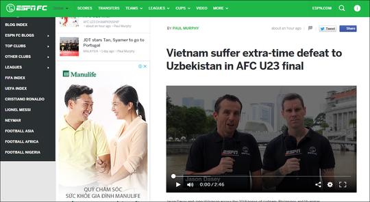 Truyền thông nước ngoài ca ngợi đội bóng dũng mãnh U23 Việt Nam - Ảnh 2.