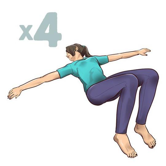 7 động tác đập tan cơn đau mỏi lưng chỉ trong 1 phút - Ảnh 2.