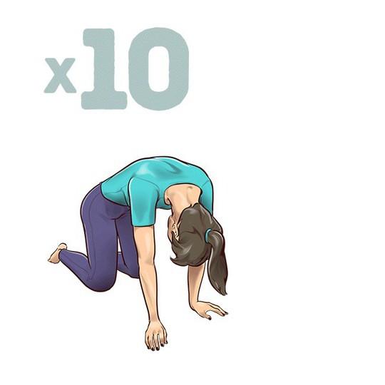 7 động tác đập tan cơn đau mỏi lưng chỉ trong 1 phút - Ảnh 6.