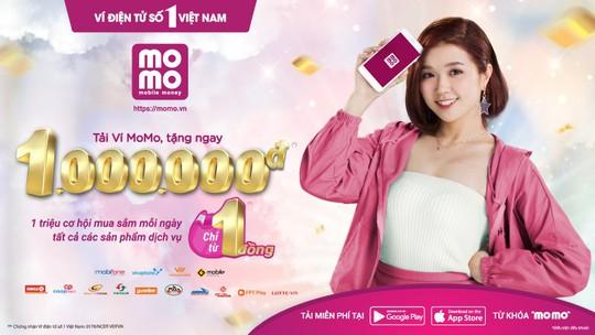 1 triệu cơ hội mua sắm mỗi ngày giá chỉ từ 1 đồng bằng Ví MoMo - Ảnh 1.