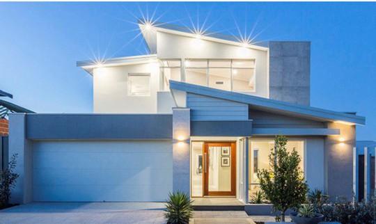 10 mẫu nhà 2 tầng mái lệch đẹp hiện đại - Ảnh 10.