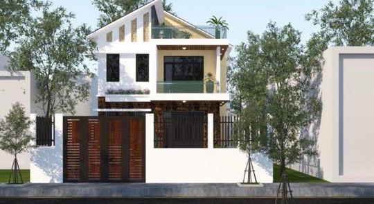 10 mẫu nhà 2 tầng mái lệch đẹp hiện đại - Ảnh 3.