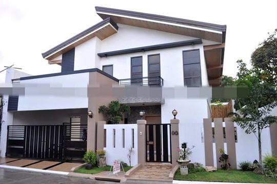 10 mẫu nhà 2 tầng mái lệch đẹp hiện đại - Ảnh 6.