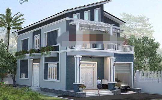 10 mẫu nhà 2 tầng mái lệch đẹp hiện đại - Ảnh 7.