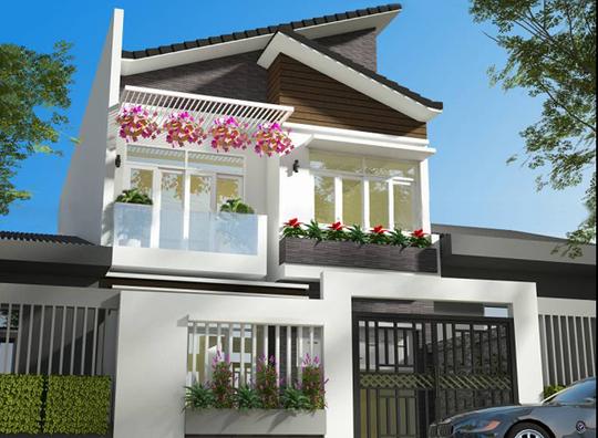 10 mẫu nhà 2 tầng mái lệch đẹp hiện đại - Ảnh 8.