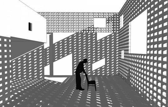 Ngôi nhà lạ mắt với bức tường gạch rỗng - Ảnh 8.