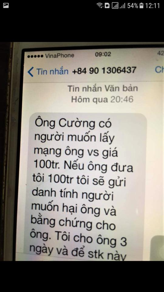 Chánh Văn phòng Đoàn ĐBQH tỉnh Quảng Trị bị nhắn tin đe dọa, tống tiền - Ảnh 1.