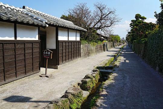 Du khách ngạc nhiên khi thấy cá koi sống dưới rãnh nước ở ngôi làng Nhật Bản - Ảnh 1.