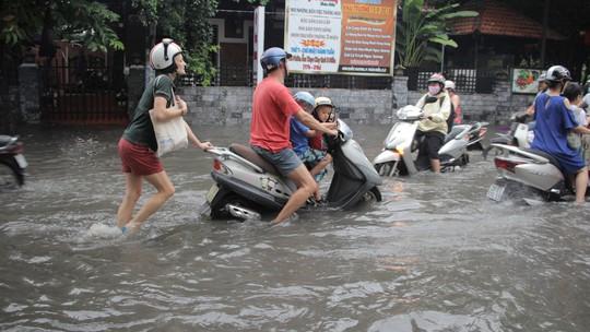 Người nước ngoài vui vẻ sống chung với ngập ở Thảo Điền - Ảnh 6.