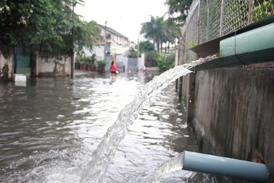 Người nước ngoài vui vẻ sống chung với ngập ở Thảo Điền - Ảnh 3.