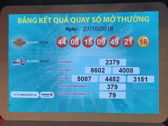 Đã có người trúng Vietlott gần 97 tỉ đồng ở TP HCM