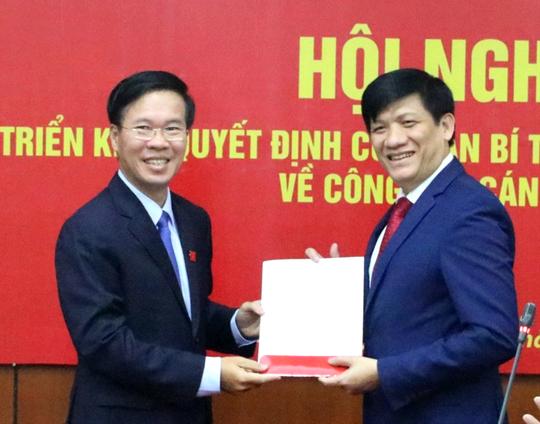 Ban Bí thư điều động, phân công Thứ trưởng Bộ Y tế Nguyễn Thanh Long - Ảnh 1.