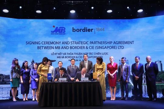 Ngân hàng Quân Đội hợp tác với Bordier & Cie Singapore - Ảnh 1.