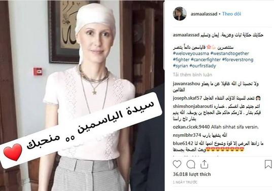Hình ảnh sau hóa trị của đệ nhất phu nhân Syria gây tranh cãi - Ảnh 1.