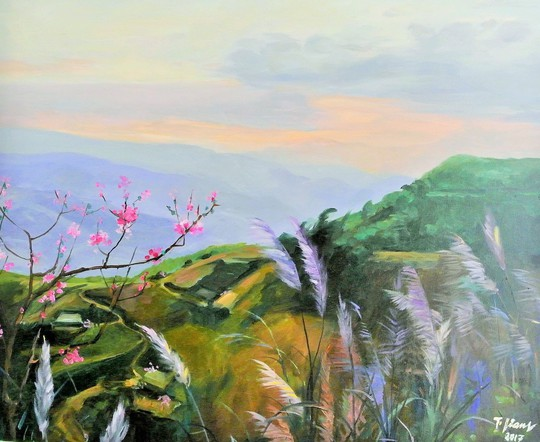 NSND Trà Giang sống cùng hội họa - Ảnh 1.