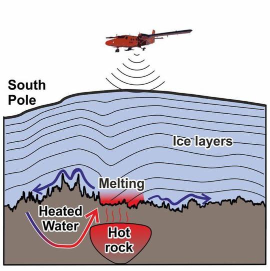 """Tảng đá siêu nóng """"nuốt"""" khối băng rộng hơn cả hòn đảo ở Nam Cực - Ảnh 1."""
