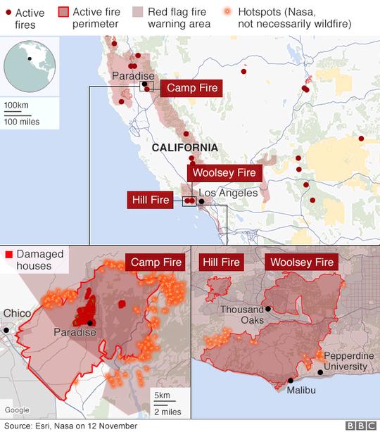 Cháy rừng California: Hơn 600 người mất tích, tăng gấp đôi chỉ sau 1 đêm - Ảnh 7.
