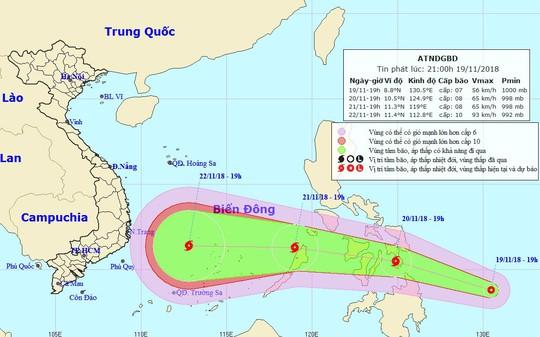 Xuất hiện cơn bão mới, giật cấp 12 hướng vào Nam Trung bộ - Ảnh 1.