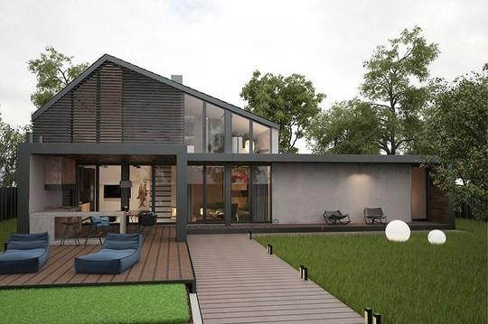 Ngôi nhà hiện đại với sân hiên làm nơi thư giãn tuyệt vời - Ảnh 1.
