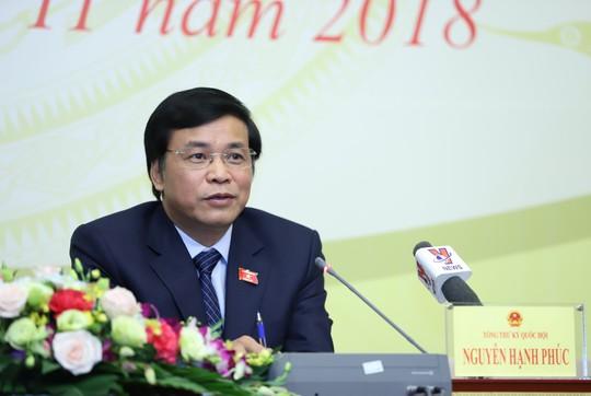 Tổng thư ký Quốc hội nói về việc Đảng uỷ Công an Trung ương đề nghị xem xét phát biểu của ĐB Lưu Bình Nhưỡng - Ảnh 1.