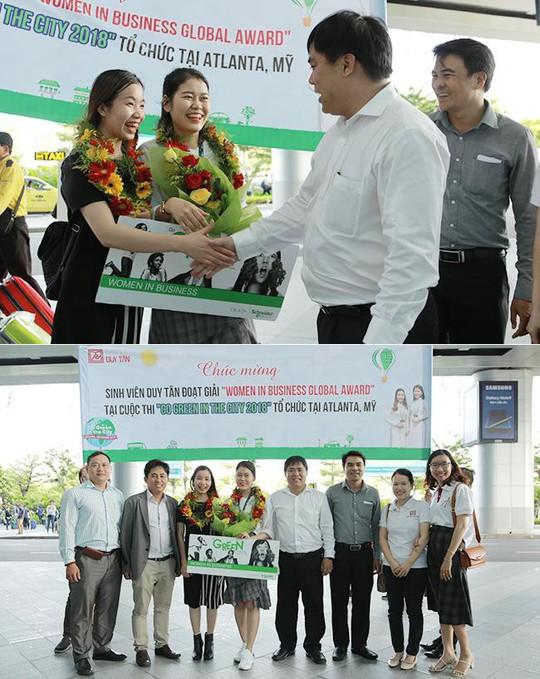 Sinh viên Duy Tân giành giải Women in Business Global Award tại Mỹ - Ảnh 2.