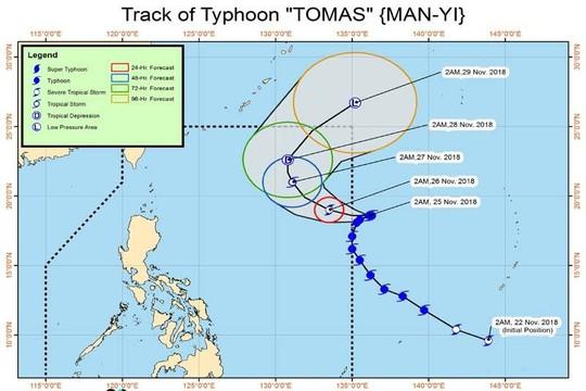 Cơn bão có đường đi lạ gần biển Đông - Ảnh 1.