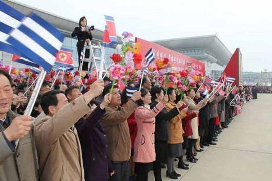 Chủ tịch Cuba đến Triều Tiên thắt chặt tình đoàn kết - Ảnh 2.