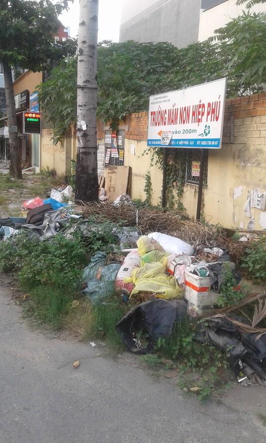 Vỉa hè bị biến thành bãi rác - Ảnh 1.