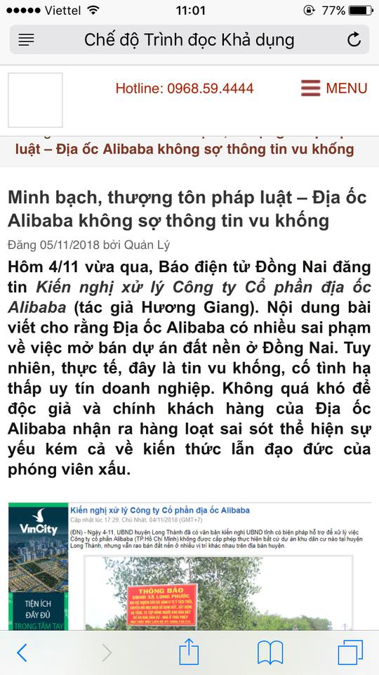 Real Estate Alibaba sued a journalist to declare it stigmatized - Photo 3.