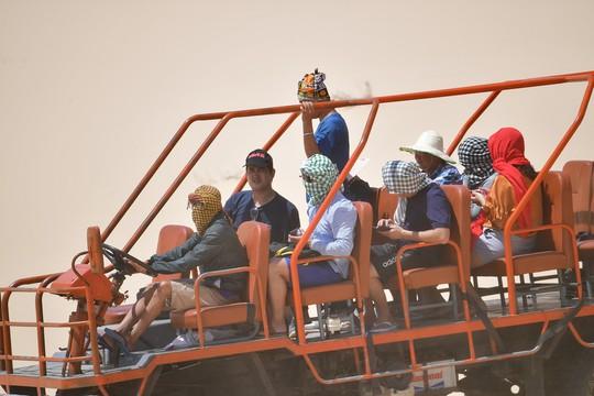 Máy cày, xe bọ hung độc đáo chuyên chở du khách ở Mũi Dinh - Ảnh 17.