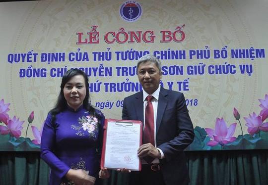 Ông Nguyễn Trường Sơn chính thức giữ chức vụ Thứ trưởng Bộ Y tế - ảnh 1