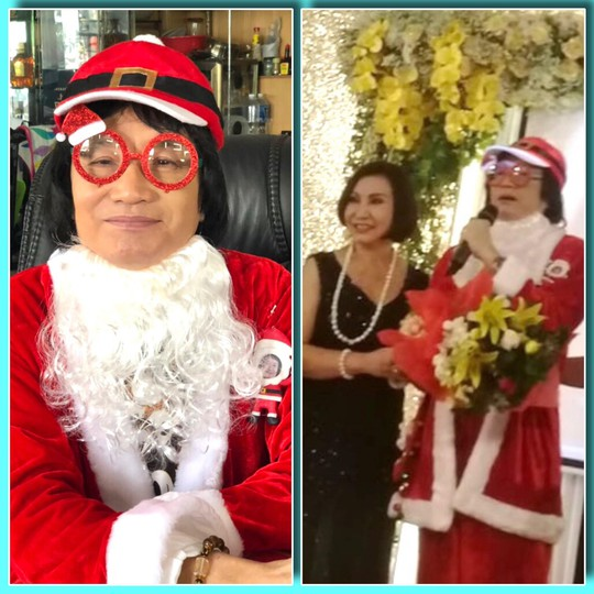 Minh Vương hóa thân ông già Noel trong ngày giỗ Minh Phụng - Ảnh 2.