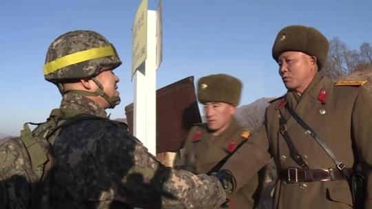 Binh sĩ liên Triều lần đầu tiên vượt qua DMZ trong hòa bình - Ảnh 1.