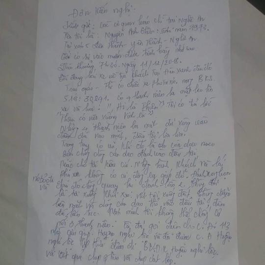 Sau tin nhắn của ông chủ, tài xế xe khách bị côn đồ chặn đánh bầm dập - Ảnh 2.