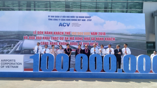Đảo ngọc Phú Quốc đón hành khách thứ 100 triệu - Ảnh 1.
