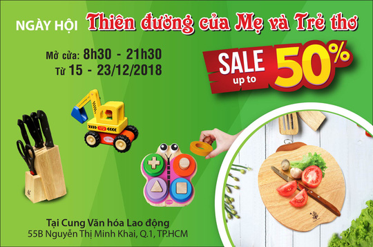 Tiết kiệm đến 50% trong tuần lễ mua sắm đồ dùng nhà bếp, đồ chơi trẻ em - Ảnh 1.