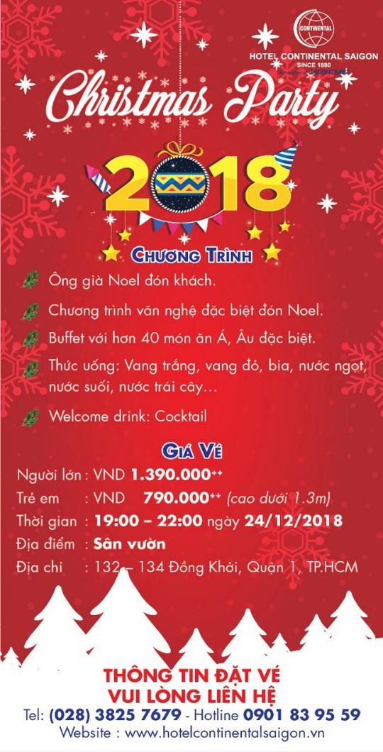 Chào đón mùa lễ hội tại khách sạn Continental Sài Gòn - Ảnh 1.