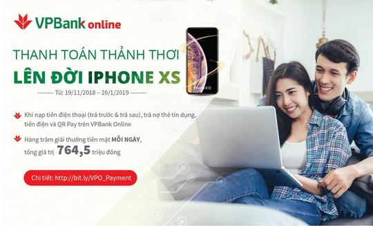 VPBank tung ưu đãi lớn cho khách hàng dùng VPBank Online - Ảnh 1.