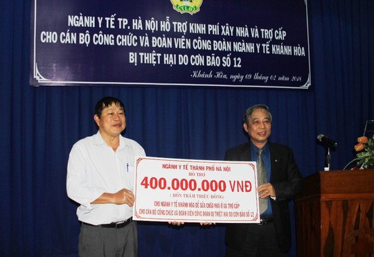 Hơn 500 suất quà Tết cho đoàn viên Công đoàn ngành y tế - Ảnh 1.