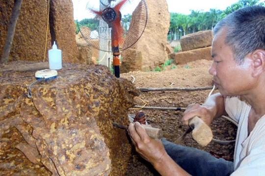 Đại gia xứ Đoài: 'Biệt phủ' đá ong gỗ mít bậc nhất đất Việt - ảnh 7