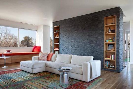 Đá ốp tường phòng khách kiểu này mới chất - Ảnh 7.