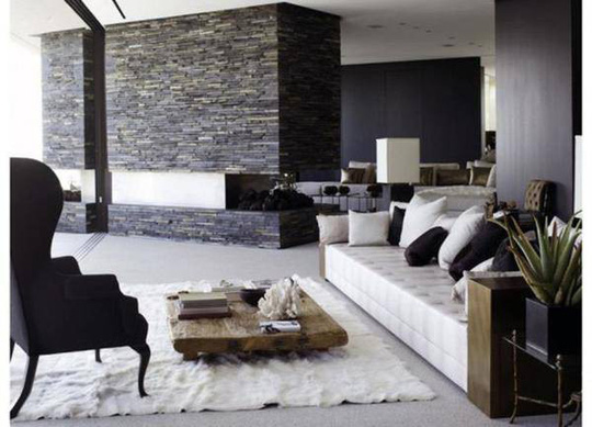 Đá ốp tường phòng khách kiểu này mới chất - Ảnh 10.