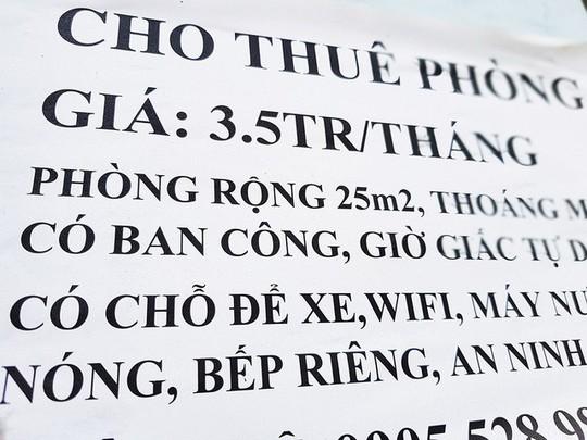 TPHCM: Phòng trọ tăng giá mạnh sau Tết - Ảnh 1.