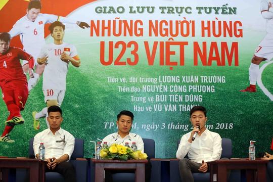 Giao lưu với các tuyển thủ U23 Việt Nam: Tình đoàn kết làm nên chiến tích lịch sử - Ảnh 1.