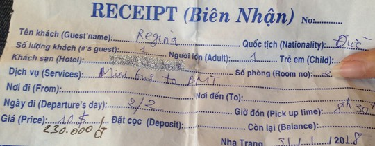 Trả tiền xe thay cho khách nước ngoài để giữ hình ảnh Việt Nam - Ảnh 1.