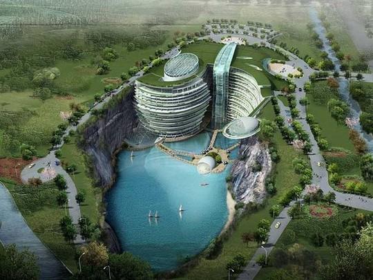 Tuyệt tác khách sạn 5 sao nằm sâu trong lòng đất 100m - Ảnh 1.