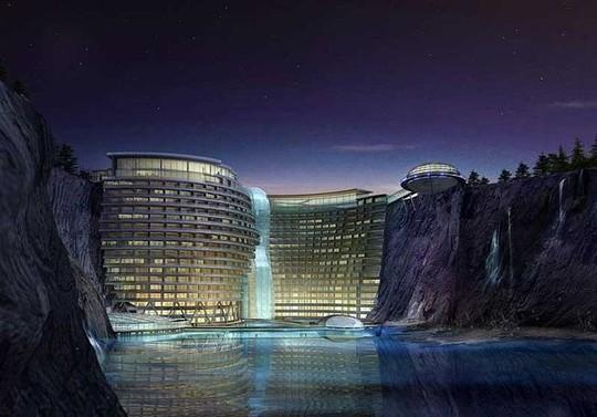 Tuyệt tác khách sạn 5 sao nằm sâu trong lòng đất 100m - Ảnh 2.